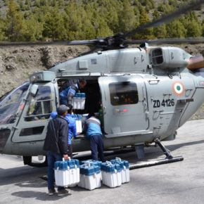 Air Force's helicopters airlift EVMs to snowbound areas in  Spiti