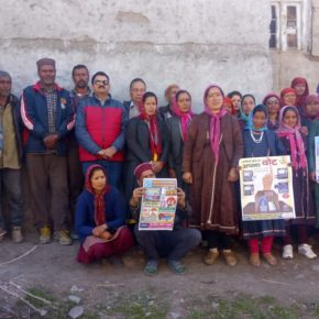 DC visits Lahaul villages for voters awareness