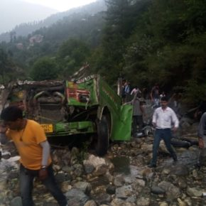 Forty two passengers die in bus accident near Banjar