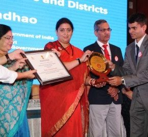 Mandi district gets awarded at National level